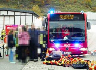 Bei dem Großbrand im Jahr 2016 in Werdohl-Dresel wurde der Bus bereits eingesetzt.